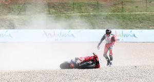 Grand Prix d'Allemagne de MotoGP - Rossi, Pol Espargaro, Marini : les chutes des essais libres 2 en vidéo