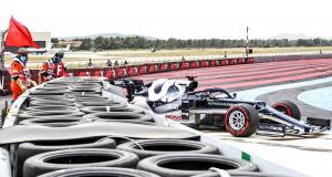 Grand Prix de France de F1 : le crash de Yuki Tsunoda lors des qualifications en vidéo