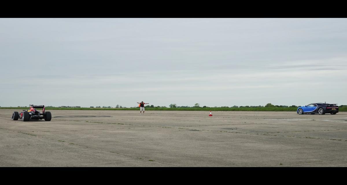 VIDEO - Une Bugatti Chiron face à une Formule 1 dans une drag race, qui va l'emporter ?