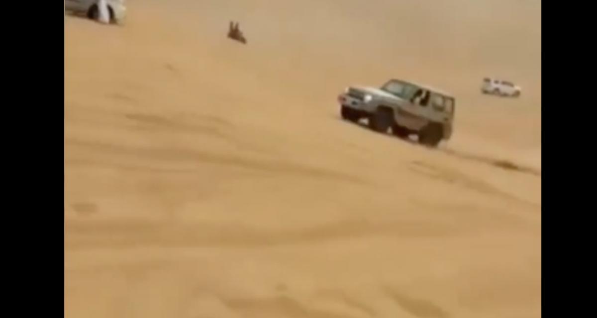La pépite du jour : son petit saut sur une dune va se transformer en carambolage