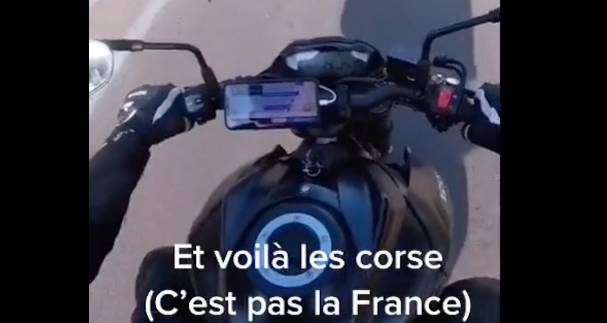 VIDEO - Visiblement en Corse, le Code de la route n'est pas le même qu'en France et il vaut mieux le respecter