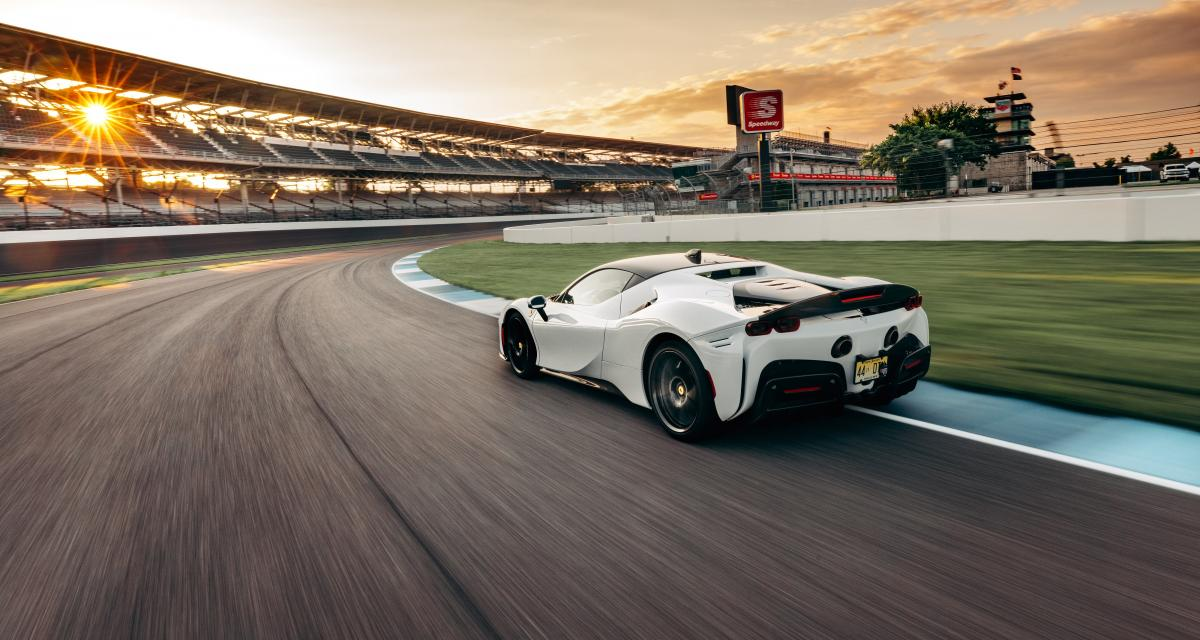 Ferrari s'offre un record sur le circuit d'Indianapolis avec une de ses hybrides rechargeables