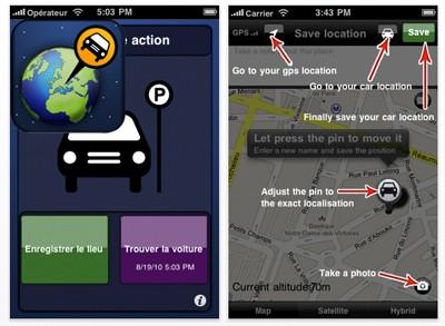 15 applications iphone pour la voiture. Black Bedroom Furniture Sets. Home Design Ideas