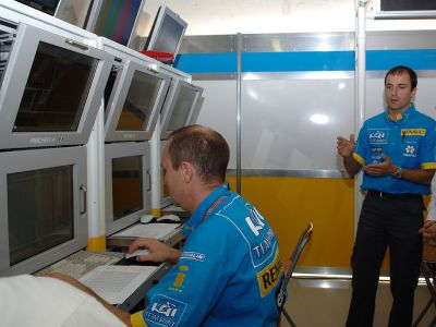 Coulisses Renault F1 Team