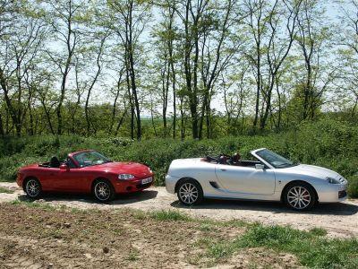 MG TF 80e vs Mazda MX5 Etna