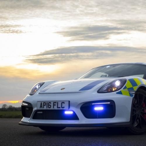 Porsche Cayman GT4 de la police britannique