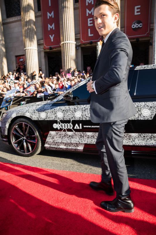 Spider-Man fait le show avec la nouvelle Audi A8