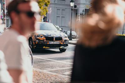 Le BMW X2 de sortie avec un camouflage tendance