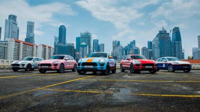 Porsche Macan : une collection de cinq exemplaires aux livrées historiques