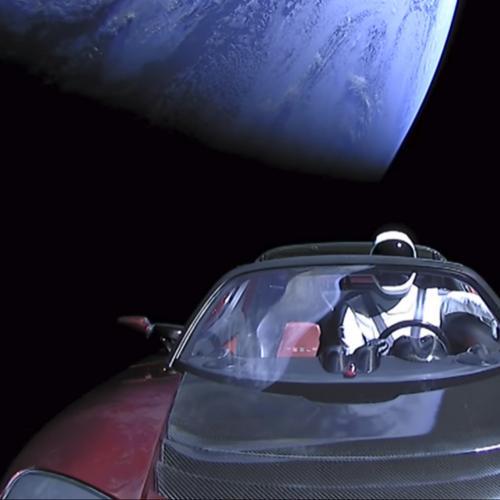 La Tesla Roadster dans l'espace