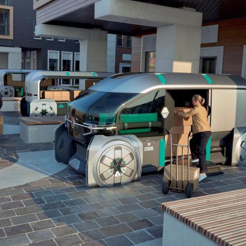 Renault Ez-Pro | les photos officielles du véhicule autonome dédié à la livraison