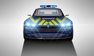 Peugeot e-Legend | les photos des concepts Rallye et gendarmerie nationale par Aksyonov Nikita