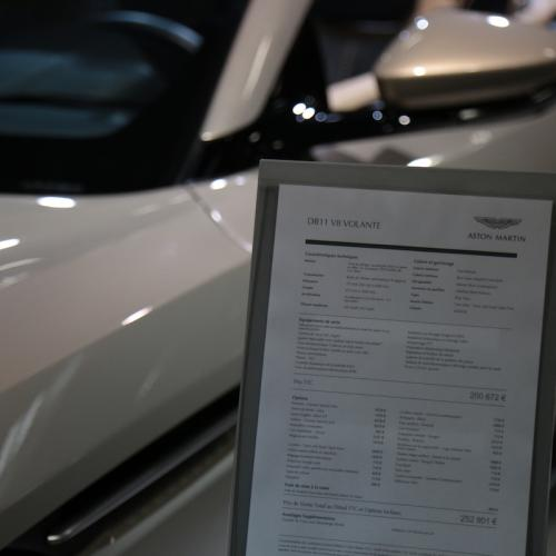 Aston Martin DB11 V8 Volante| nos photos depuis le Mondial de l'Auto 2018