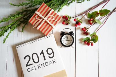 2019 | l'agenda de l'année