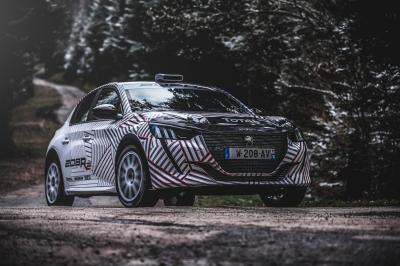 Peugeot 208R2 | Les photos des premiers essais dans les Vosges