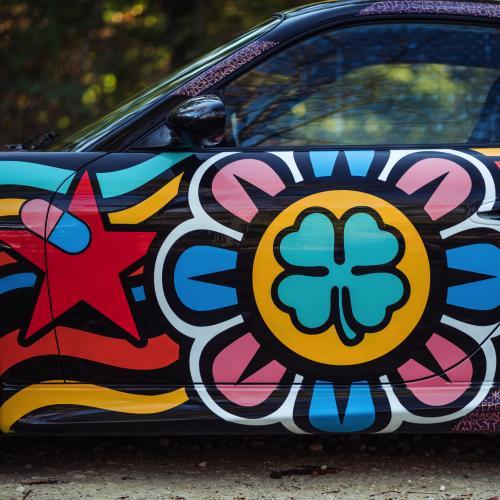 Porsche 911 GT3 CS type 996 par Speedy Graphito   les photos officielles de l'art car aux enchères Artcurial