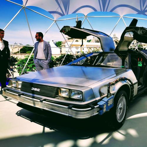 Concours d'élégance de Chantilly   nos photos de la DeLorean de Retour Vers le Futur III