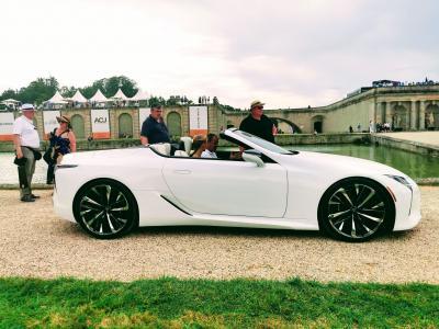 Concours d'élégance de Chantilly | nos photos de la Lexus LC Cabriolet Concept