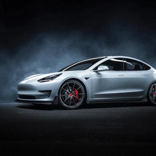 Tesla Model 3   les photos officielles du kit Vorsteiner