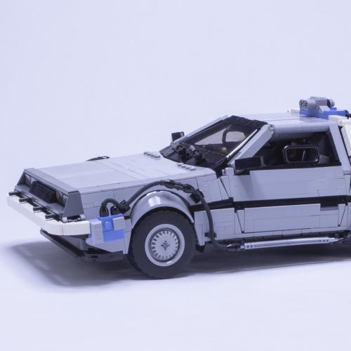 """Delorean DMC-12 de """"Retour vers le futur"""" l Les photos du modèle en Lego"""