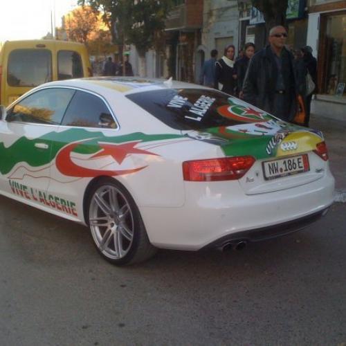 Finale de la CAN 2019 : les voitures des supporters de l'Algérie