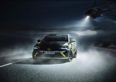 Opel Corsa-e Rally | les photos officielles de la voiture de rallye électrique