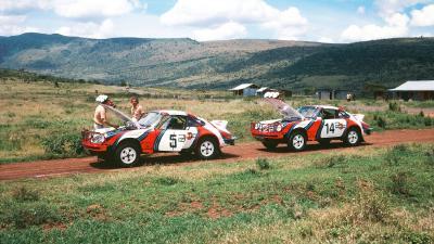 Porsche 911 SC Safari   Les photos officielles Porsche du Safari Rally 1978