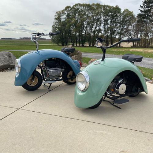 Volkspod   Les photos du petit scooter de Brent Walter inspiré par la Volkswagen Coccinelle