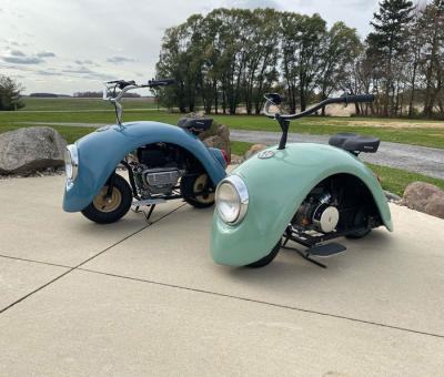 Volkspod | Les photos du petit scooter de Brent Walter inspiré par la Volkswagen Coccinelle