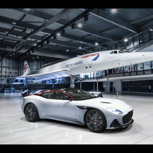 Aston Martin DBS Superleggera | Les photos en hommage au Concorde