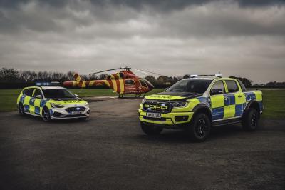 Ford Ranger Raptor et Focus ST | Les photos des nouveaux véhicules d'intervention de la police anglaise