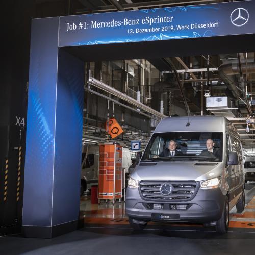 Mercedes-Benz eSprinter   Les photos du lancement en production de l'utilitaire 100% électrique