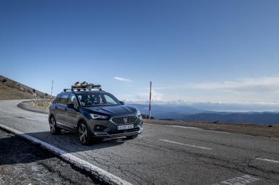 Seat Tarraco | Les photos du SUV aux sports d'hiver avec Jordi Gené