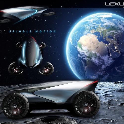 Lexus et ED2 pour le magazine Document Journal | Les photos des sept engins lunaires