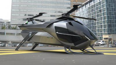 Lamborghini Falco | Les photos du projet étudiant de drone taxi