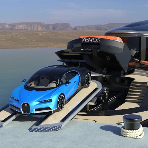 Hyperyacht Xenos x Bugatti Chiron   les photos officielles du yacht de luxe