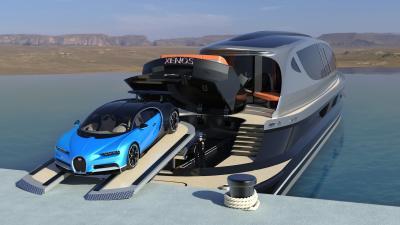 Hyperyacht Xenos x Bugatti Chiron | les photos officielles du yacht de luxe