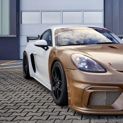 Porsche 718 Cayman GT4 MR | Les photos du kit carrosserie en fibres naturelles
