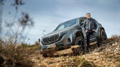 Mercedes EQC 4x4² | Les photos du concept-car haut sur pattes à l'étoile