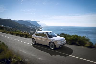 Fiat 126 Vision | Les photos de la citadine italienne néo-rétro by MADE Studio