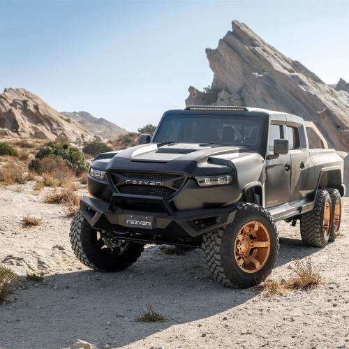 Rezvani Hercules 6x6 | Les photos du monstrueux pick-up californien