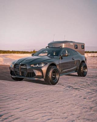 Camping-car BMW M4 | les photos du camping-car hyper sportif par Bradbuilds