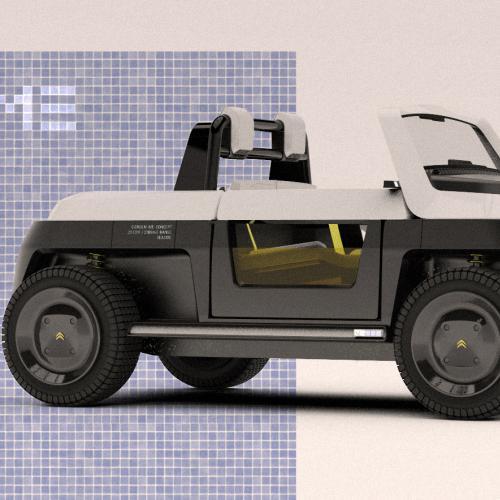 Citroën Me Concept | Les photos de la Citroën AMI de plage