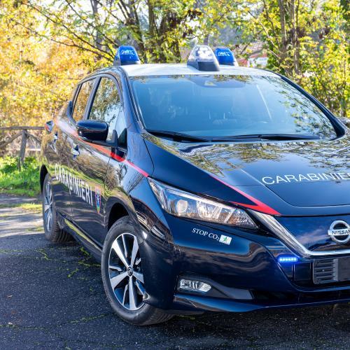 Nissan Leaf des carabiniers italiens | les photos