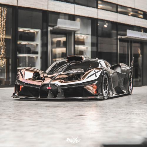 Une Bugatti inspiré du X-Wing de Star Wars   les photos du concept de Timothy Adry