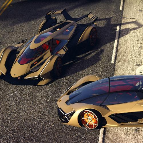 Lamborghini V12 Vision GT 2020 | Les photos du prototype moddé dans GTA V