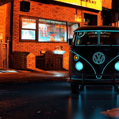 CyberKombi   Les photos du VW Combi inspiré par le monde du jeu vidéo