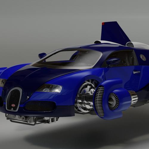 Bugatti Spacester | les photos de la Bugatti Veyron transformée en voiture volante
