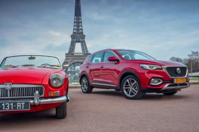 MG EHS (2021) | Les photos du SUV hybride rechargeable à Paris