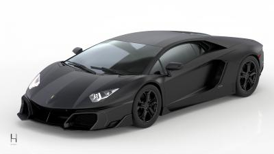 Lamborghini Aventador by Huber | Les images du restylage full carbone